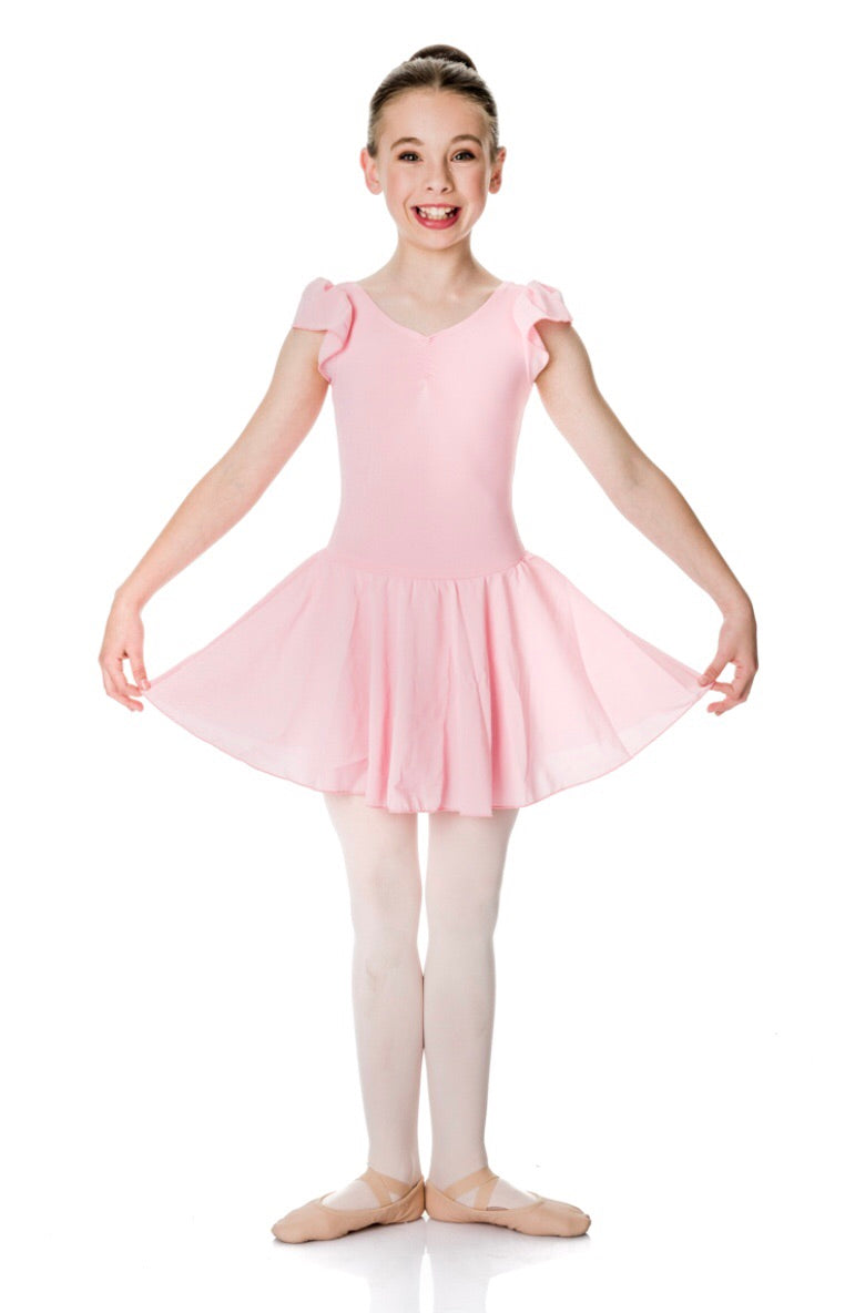 Cap sleeve Chiffon Ballet Dress