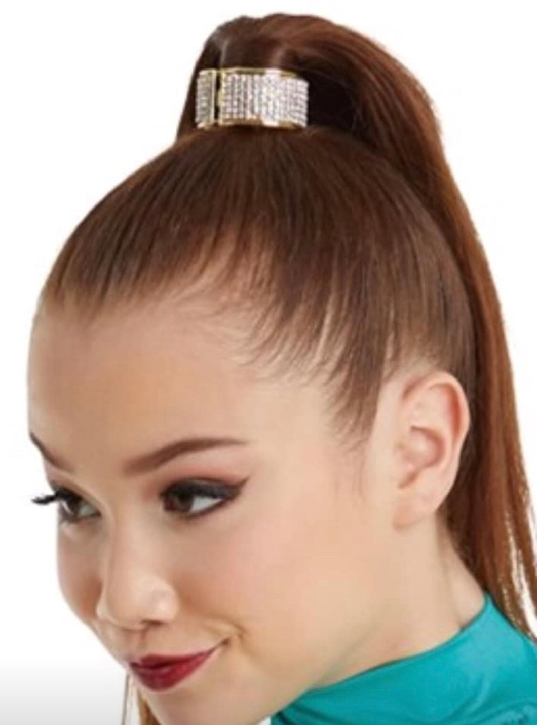 Diamonte ponytail cuff