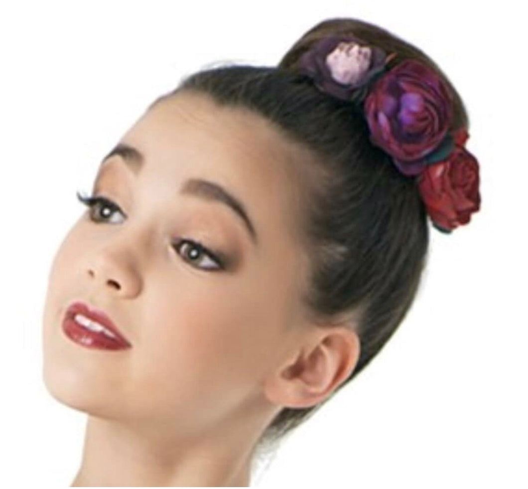 Floral Bun Topper - with statement florals