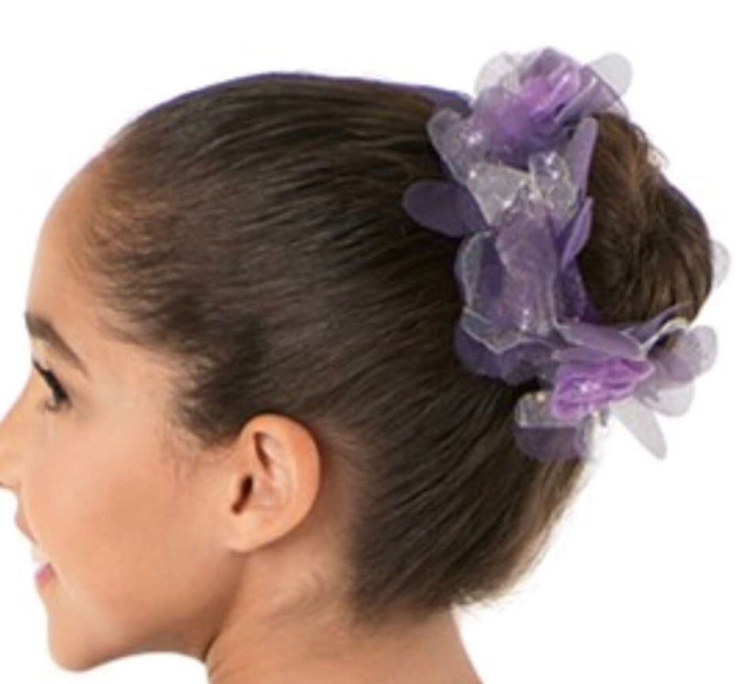 Purple Blossoms Bun Topper.
