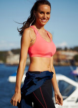 Load image into Gallery viewer, Coral sports bra