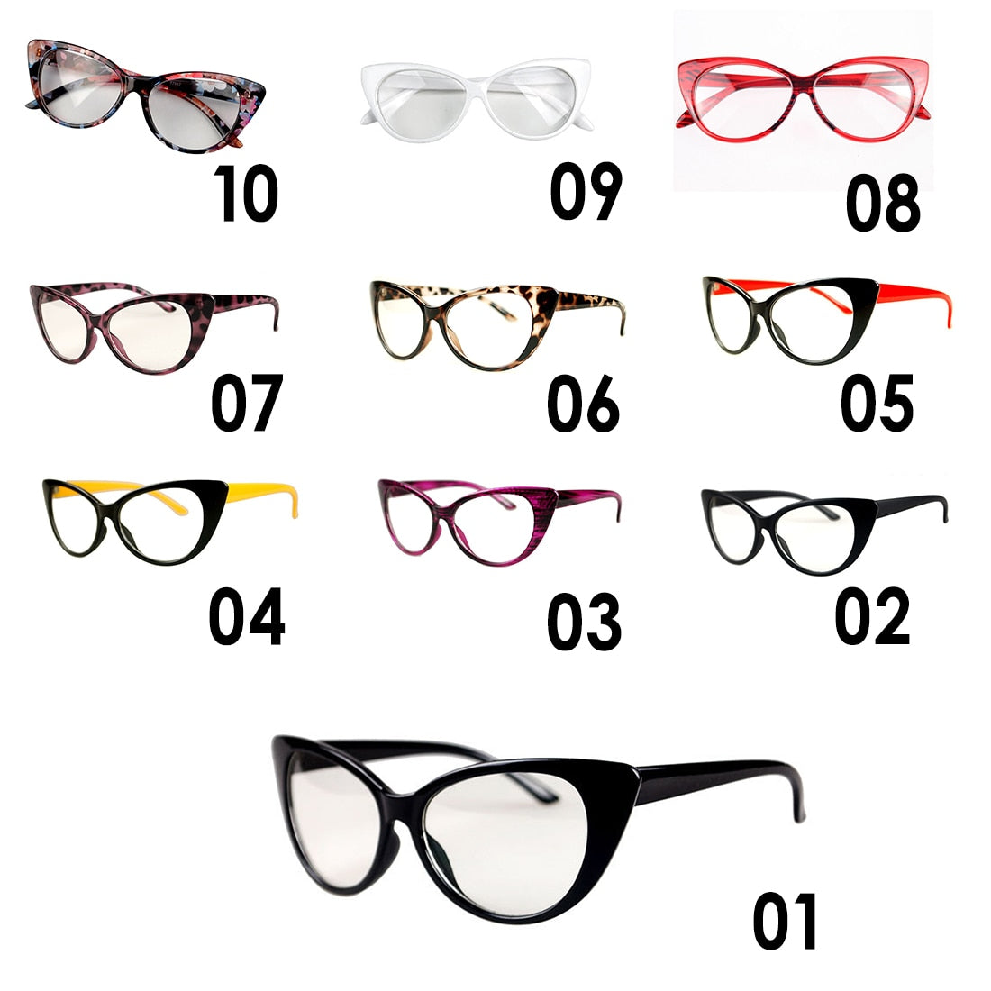 7393128025157 ... Fashion Women Cat Eye Glasses Frames Sexy Striped Retro Eyeglasses  Ladies Vintage Spectacles Frame Clear Lens ...