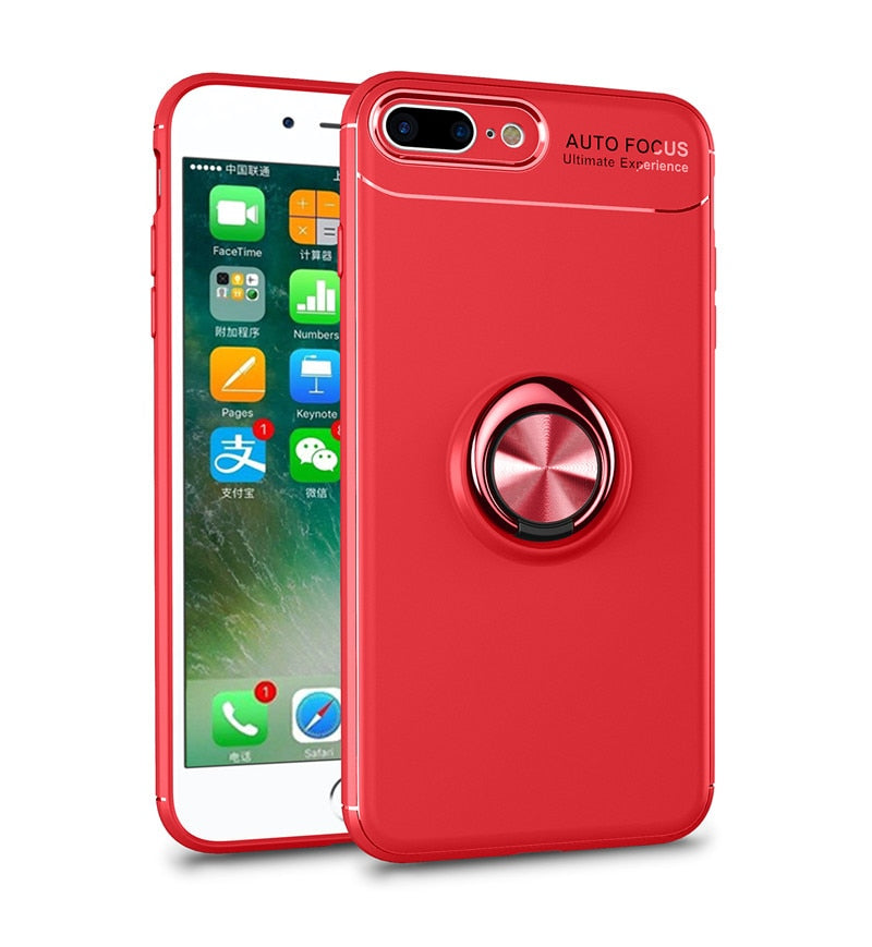 Phone Cases For Iphone 8 7 Plus Magnetic Finger Ring Holder Case