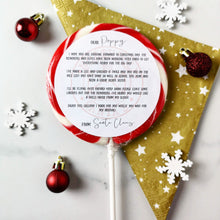 Load image into Gallery viewer, Personalised Letter from Santa Lollipop - Suck It & Say