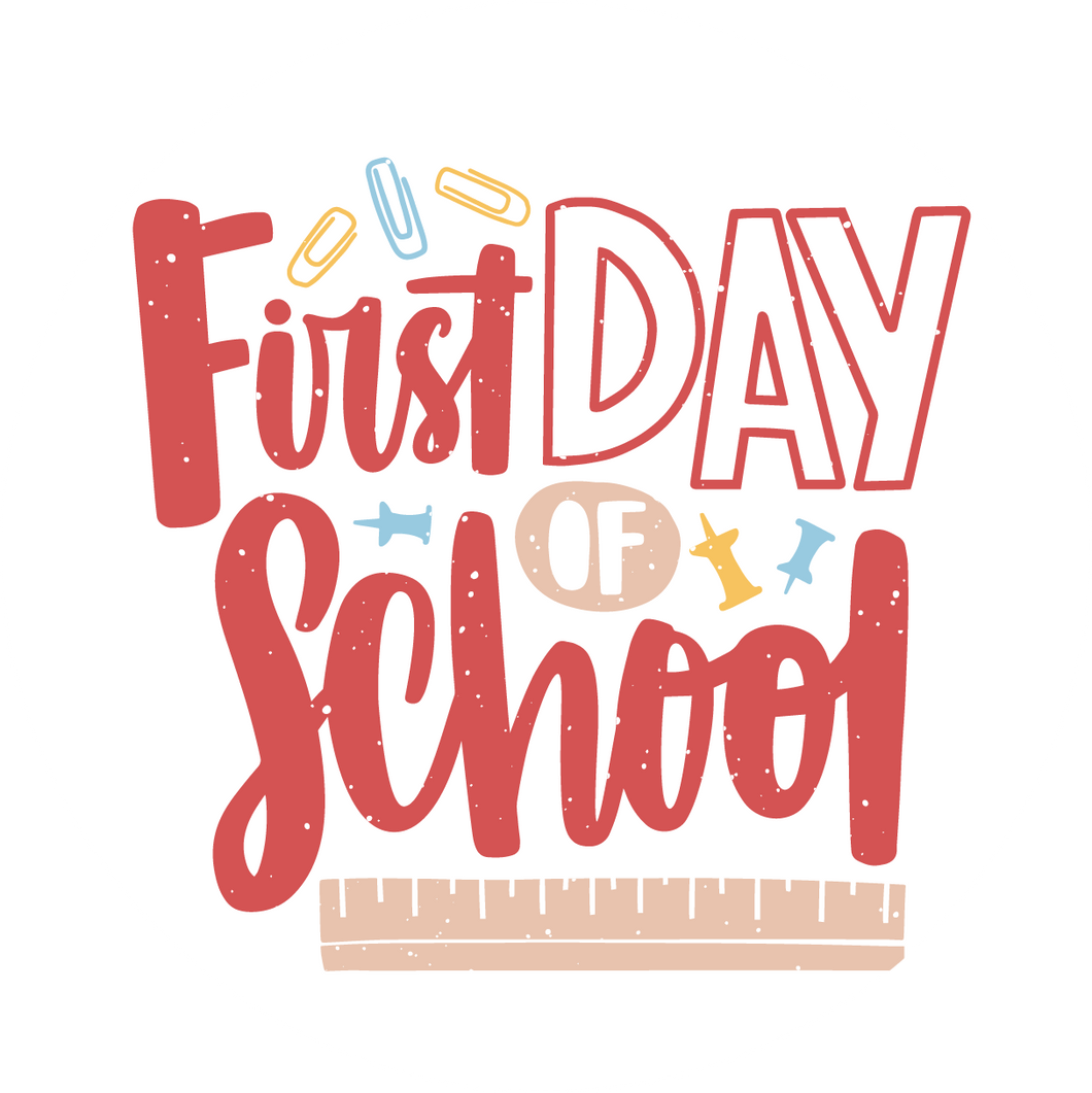 First Day Of School Red Design Lollipop - Suck It & Say