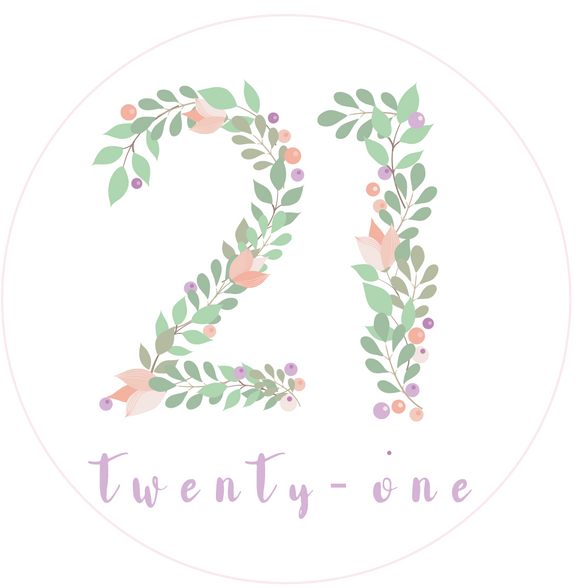 Twenty One 21 Floral Numbers Birthday Lollipop - Suck It & Say