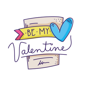 Be My Valentine Card Lollipop - Suck It & Say