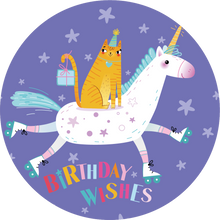 Load image into Gallery viewer, Birthday Wishes Unicorn Lollipop - Suck It & Say