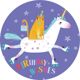 Birthday Wishes Unicorn Lollipop - Suck It & Say