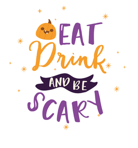 Eat Drink and Be Scary Halloween Lollipop - Suck It & Say