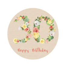 Load image into Gallery viewer, Thirty 30 Bright Floral Numbers Birthday Lollipop - Suck It & Say