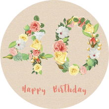 Load image into Gallery viewer, Fourty 40 Bright Floral Numbers Birthday Lollipop - Suck It & Say