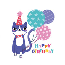 Load image into Gallery viewer, Cat With Balloons Happy Birthday Lollipop - Suck It & Say
