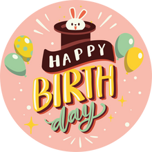 Load image into Gallery viewer, Rabbit In Hat Happy Birthday Lollipop - Suck It & Say
