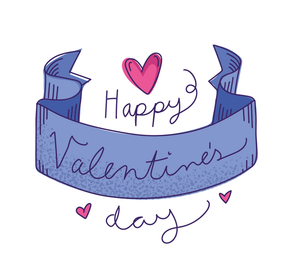 Happy Valentine's Day Banner Lollipop - Suck It & Say