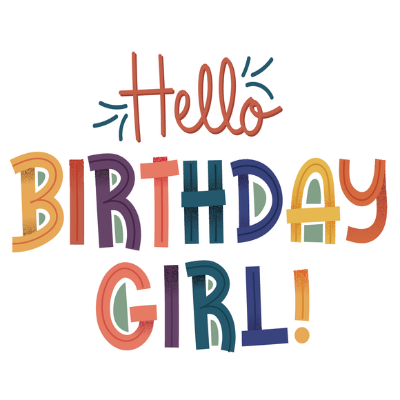Hello Birthday Girl Lollipop - Suck It & Say
