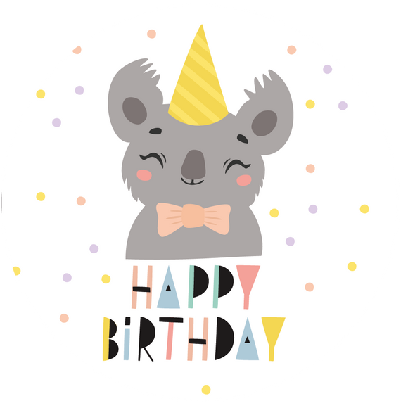 Koala Happy Birthday Lollipop - Suck It & Say