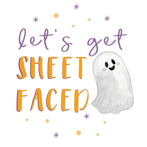 Let's Get Sheet Faced Halloween Lollipop - Suck It & Say