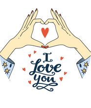 Load image into Gallery viewer, I Love You Heart Hands Lollipop - Suck It & Say
