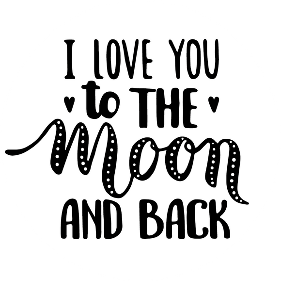 I Love You To The Moon & Back Typography Lollipop - Suck It & Say