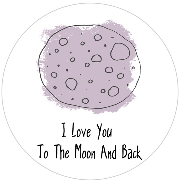 I Love You To The Moon Lollipop - Suck It & Say