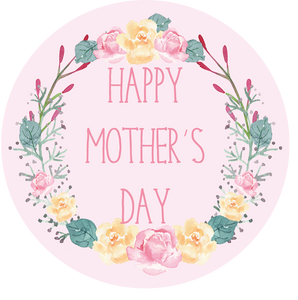 Pink Botanical Wreath Mother's Day Lollipop - Suck It & Say