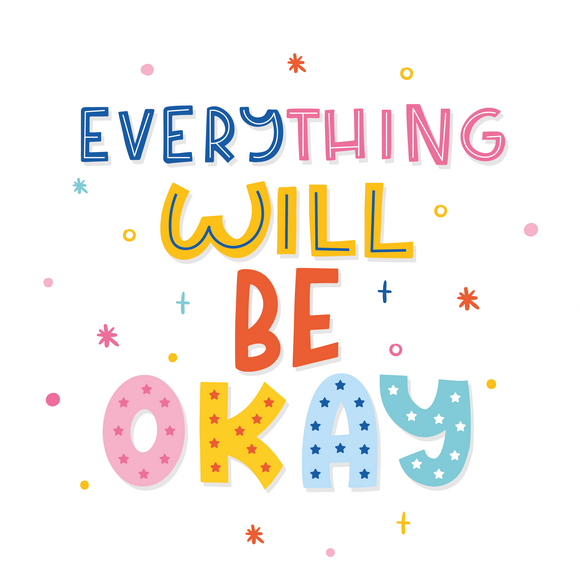 Rainbow Everything Will Be Okay Lollipop - Suck It & Say