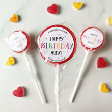 Load image into Gallery viewer, Personalised Sprinkles Birthday Lollipops