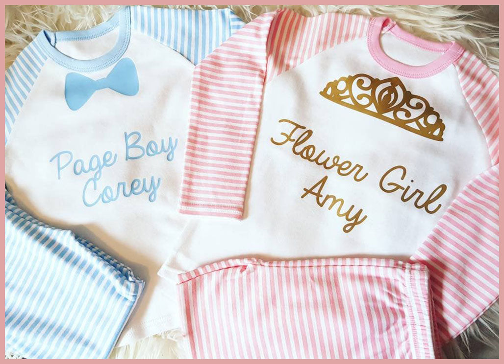 Personalised Wedding Role PJ's