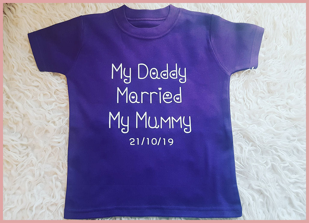 Daddy Married Mummy Personalised T-shirt