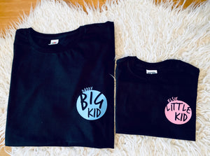 Big Kid / Little Kid Personalised Matching T-shirts