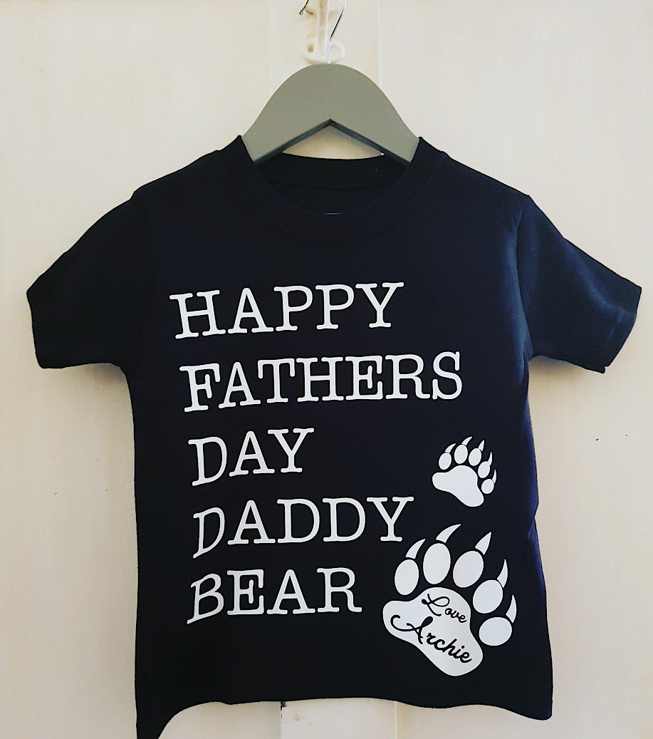 Happy Fathers Daddy Daddy Bear T-shirt
