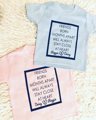 Friends Born Days/Weeks/Months Apart Matching T-shirts