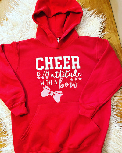 Cheer is an attitude with a bow