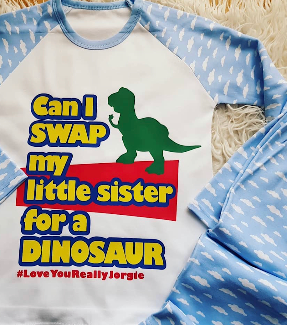 Can I Swap My Big/Little Brother/Sister For A Dinosaur Pjs