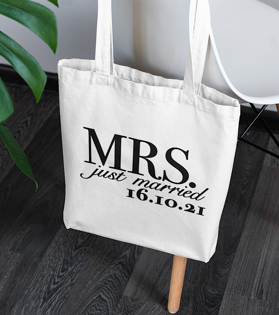 Mrs. Just Married Tote Bag