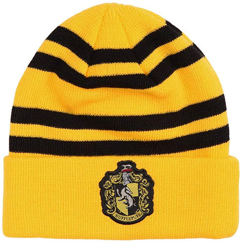 Harry Potter: Winter Hat : Huffle Puff Raised Cuff Beanie