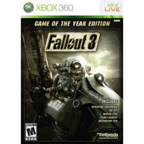 XB360- Fallout 3; Game of the Year Edition