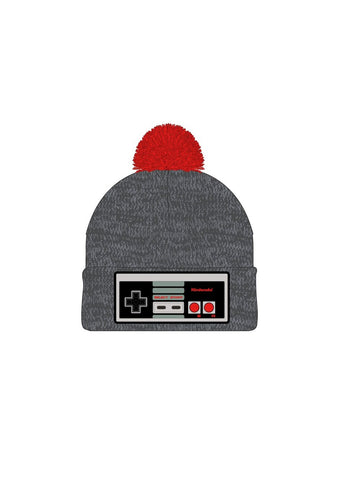 NES Embroidered Controller Knitted with POM - Nintendo Winter Hat