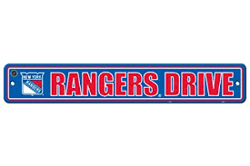 NHL: New York Rangers Street Sign