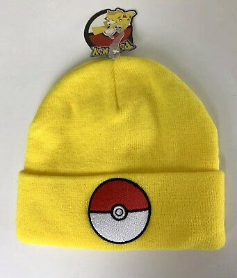 Pokemon: Winter Hat: Poke-Ball Yellow Raised Cuff Beanie