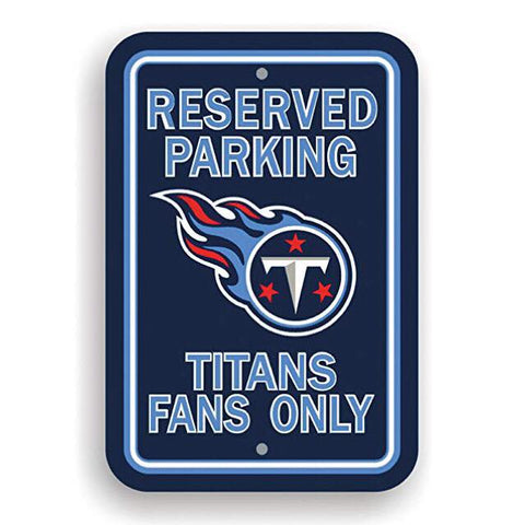 Tennessee Titans Reserved Parking Sign