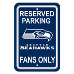 Seattle Seahawks Reserved Parking Sign