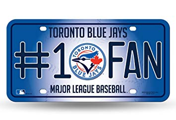 MLB: Toronto Blue Jays #1 Fan License Plate