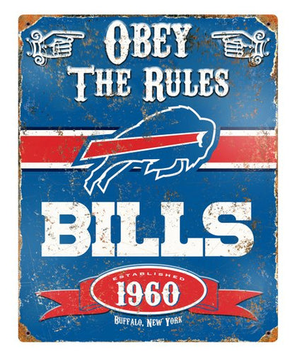 Buffalo Bills Obey the Rules Sign