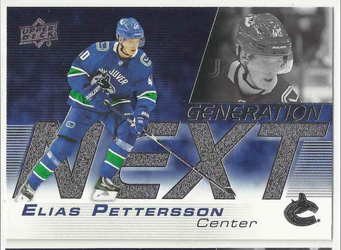 Elias Pettersson #GN-3 Generation Next  2019-20 Upper Deck S1