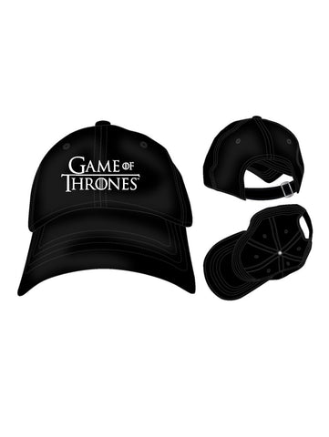 Game Of Thrones Embroidered Logo Adjustable Cap