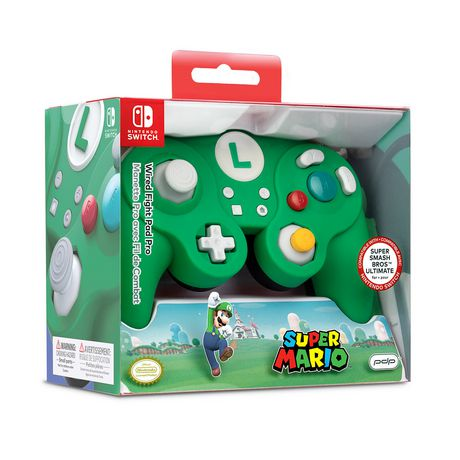 Pro Wired Fight Pad Controller Switch - Luigi Themed