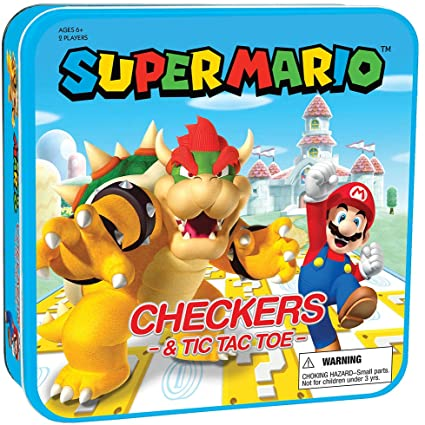 Mario Checkers & Tic Tac Toe
