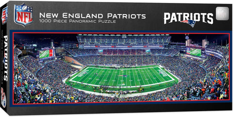 Puzzle- New England Patriots 1,000pc Panoramic Stadium Puzzle